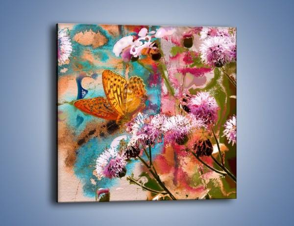 Obraz na płótnie – Odpocząć na kwiatku – jednoczęściowy kwadratowy GR604