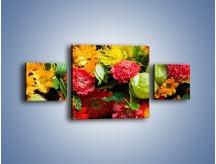 Obraz na płótnie – Bukiet pełen soczystych kolorów – trzyczęściowy K461W4