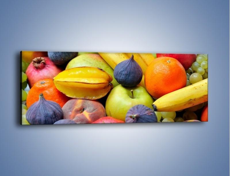 Obraz na płótnie – Owocowe kolorowe witaminki – jednoczęściowy panoramiczny JN173
