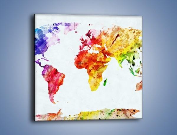 Obraz na płótnie – Kontynenty w jesiennych barwach – jednoczęściowy kwadratowy GR606