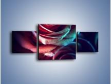 Obraz na płótnie – Ciemność różanych główek – trzyczęściowy K679W4