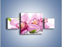 Obraz na płótnie – Biały kwiatowy stół – trzyczęściowy K688W4