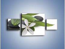 Obraz na płótnie – Artystyczna kompozycja z kwiatem – trzyczęściowy K968W4