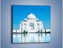 Obraz na płótnie – Taj Mahal pod błękitnym niebem – jednoczęściowy kwadratowy AM077