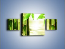 Obraz na płótnie – Bambusowe liście i łodygi – trzyczęściowy KN027W4