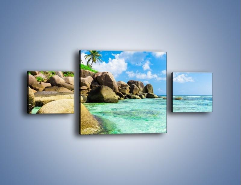 Obraz na płótnie – Lazurowa woda w tropikach – trzyczęściowy KN035W4