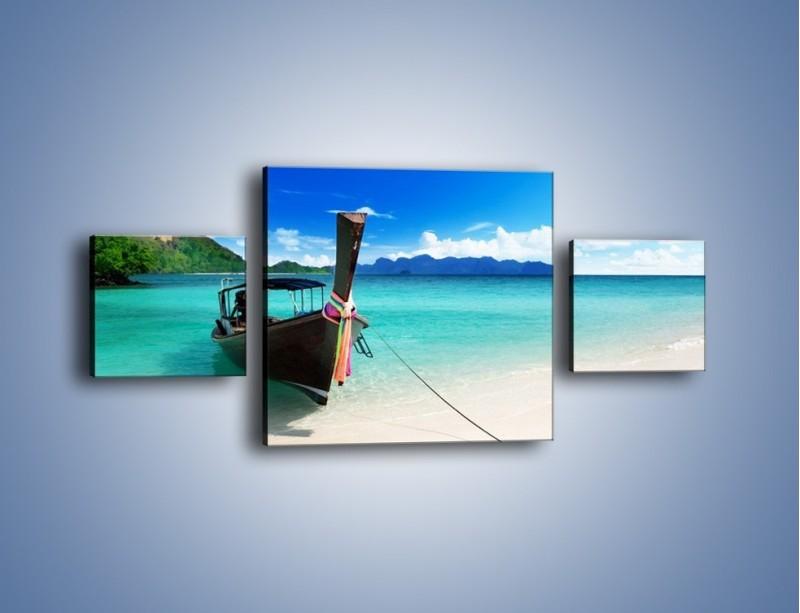 Obraz na płótnie – Wodny transport w tajlandii – trzyczęściowy KN083W4