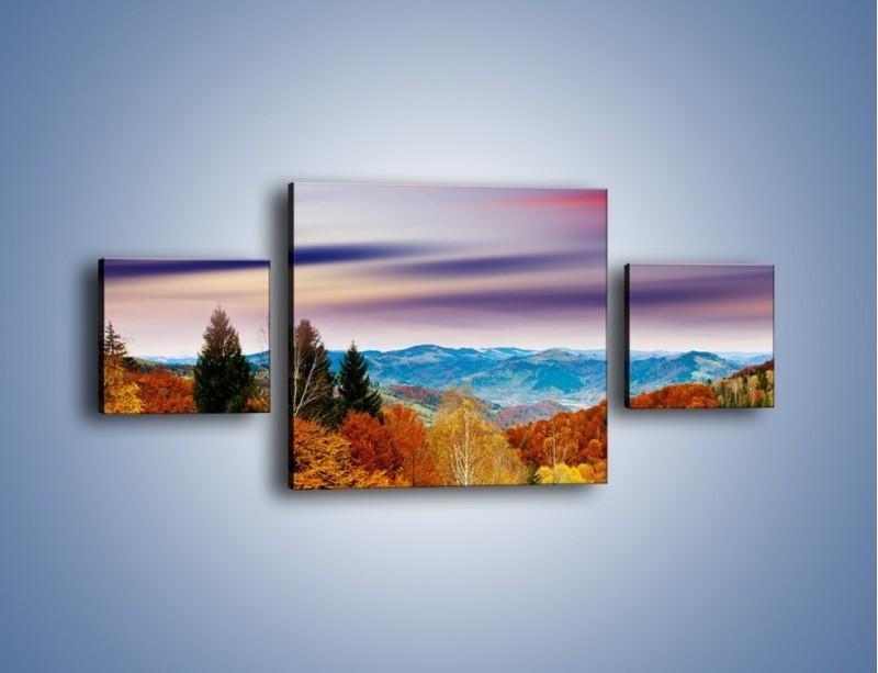 Obraz na płótnie – Drzewa w kolorach jesieni – trzyczęściowy KN099W4