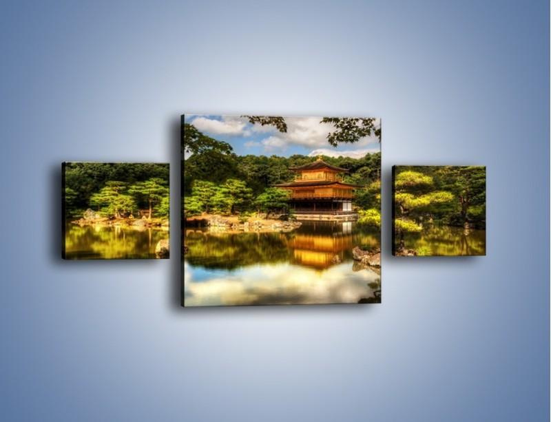 Obraz na płótnie – Widok z domu na wodę – trzyczęściowy KN1030W4