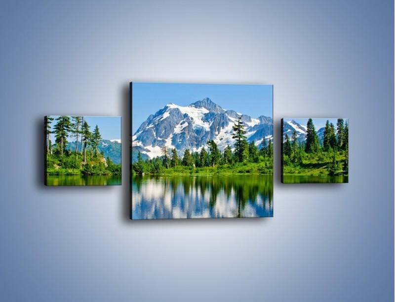 Obraz na płótnie – Lustrzane odbicie z gór – trzyczęściowy KN1049W4