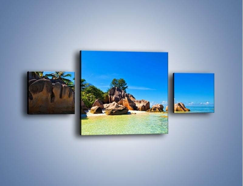 Obraz na płótnie – Bezludna wyspa i ja – trzyczęściowy KN1058W4