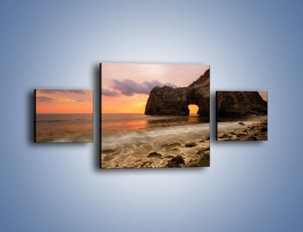 Obraz na płótnie – Smutny wodny pejzaż – trzyczęściowy KN1081AW4