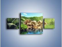 Obraz na płótnie – Bogata roślinność nad wodą – trzyczęściowy KN1082AW4
