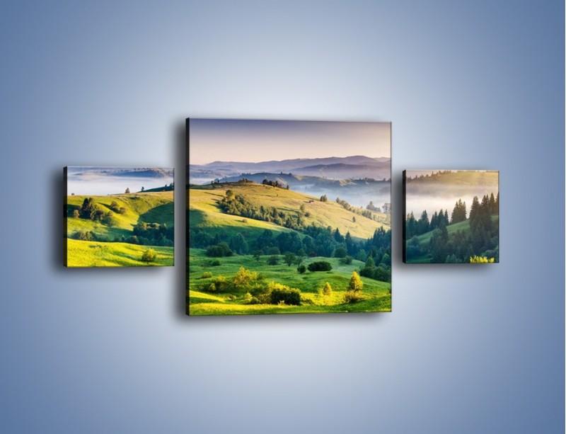 Obraz na płótnie – Tylko zieleń i góry – trzyczęściowy KN1084W4