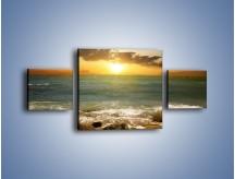 Obraz na płótnie – Brzegiem w stronę morza – trzyczęściowy KN1092AW4
