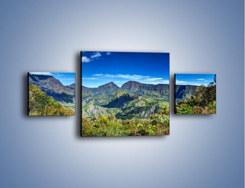 Obraz na płótnie – Zieleń ukryta wysoko w górach – trzyczęściowy KN1106W4