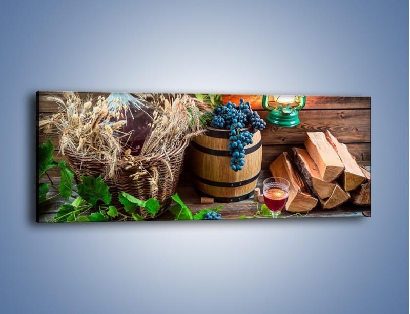 Obraz na płótnie – Wino według własnego przepisu – jednoczęściowy panoramiczny JN202