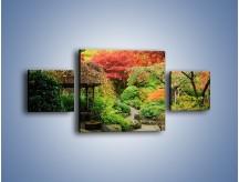 Obraz na płótnie – Alejka między kolorowymi drzewami – trzyczęściowy KN1113W4