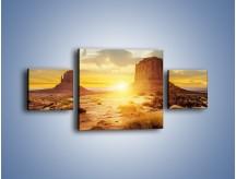 Obraz na płótnie – Budowle na piachu – trzyczęściowy KN1133AW4