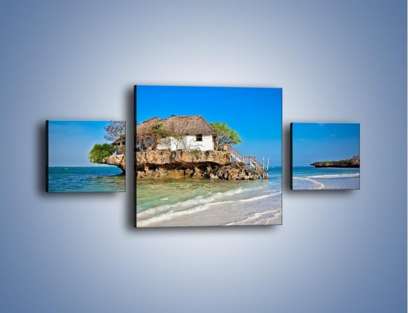 Obraz na płótnie – Dom na skarpie – trzyczęściowy KN1150AW4