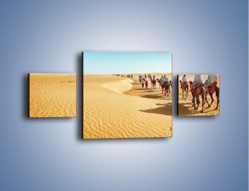 Obraz na płótnie – Szła karawana przez pustynię – trzyczęściowy KN1173AW4