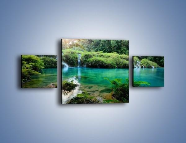 Obraz na płótnie – Kryształowo czysta woda – trzyczęściowy KN1179AW4