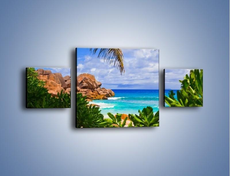 Obraz na płótnie – Urlop pod palmami – trzyczęściowy KN1191AW4