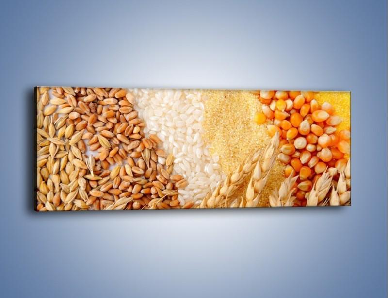 Obraz na płótnie – Ziarna pszenno-zbożowe – jednoczęściowy panoramiczny JN207
