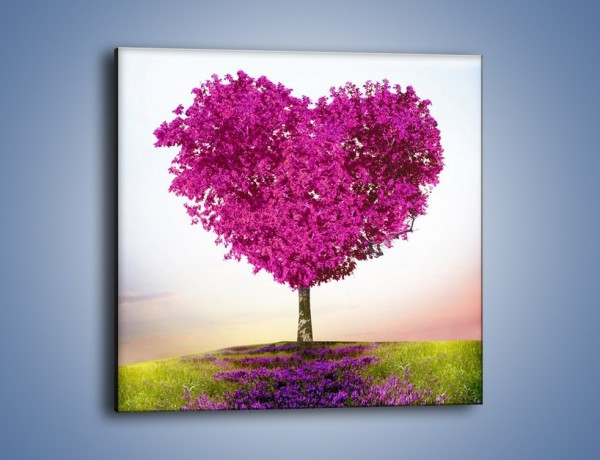 Obraz na płótnie – Miłość w kolorze purpury – jednoczęściowy kwadratowy GR624