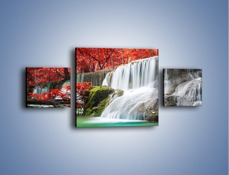 Obraz na płótnie – Zachwycić się naturą – trzyczęściowy KN1250AW4