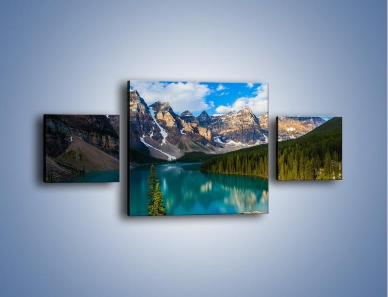 Obraz na płótnie – Spokój w górach – trzyczęściowy KN1258AW4