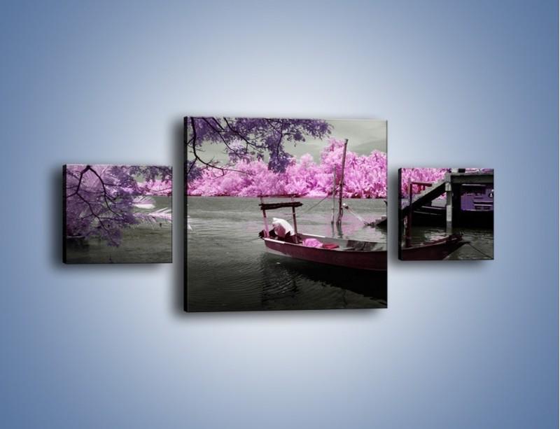Obraz na płótnie – Krajobraz jak z japonii – trzyczęściowy KN1277AW4