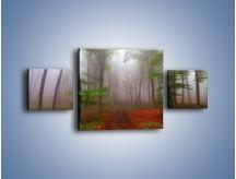 Obraz na płótnie – Budzący się lasek – trzyczęściowy KN1285AW4