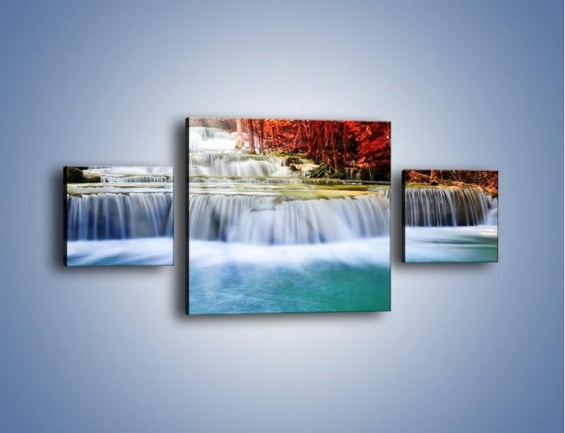 Obraz na płótnie – Jak przyjemnie nad wodą – trzyczęściowy KN1291AW4