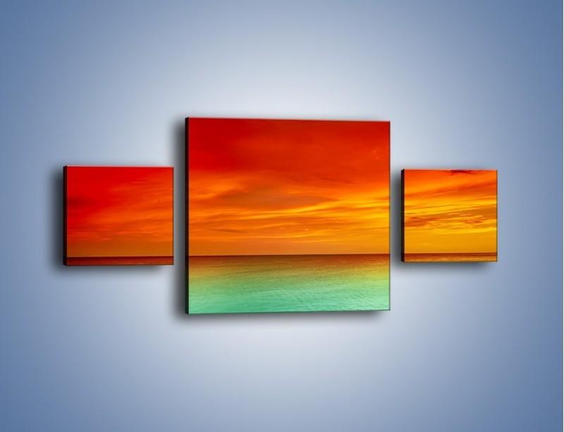 Obraz na płótnie – Horyzont w kolorach tęczy – trzyczęściowy KN1303AW4