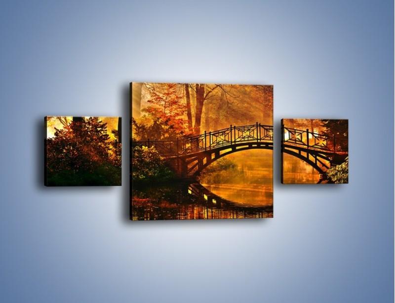 Obraz na płótnie – Cudowny spacer jesienną porą – trzyczęściowy KN1319AW4