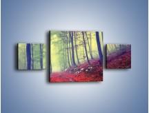 Obraz na płótnie – Bardzo wąską ścieżką leśną – trzyczęściowy KN1335AW4