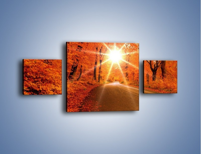 Obraz na płótnie – Droga pełna słońca – trzyczęściowy KN160W4