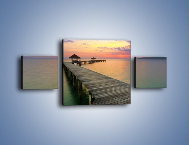 Obraz na płótnie – Krętym pomostem do morza – trzyczęściowy KN327W4