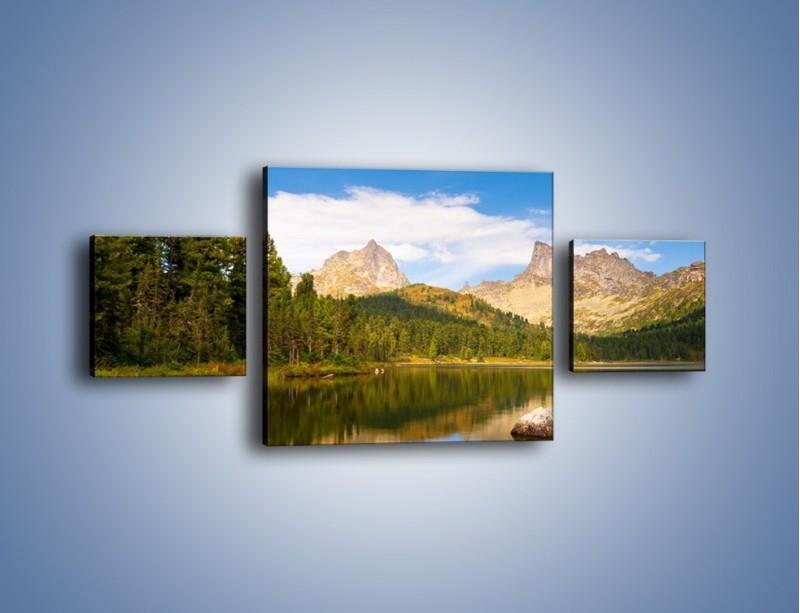 Obraz na płótnie – Widok nie tylko na góry – trzyczęściowy KN401W4