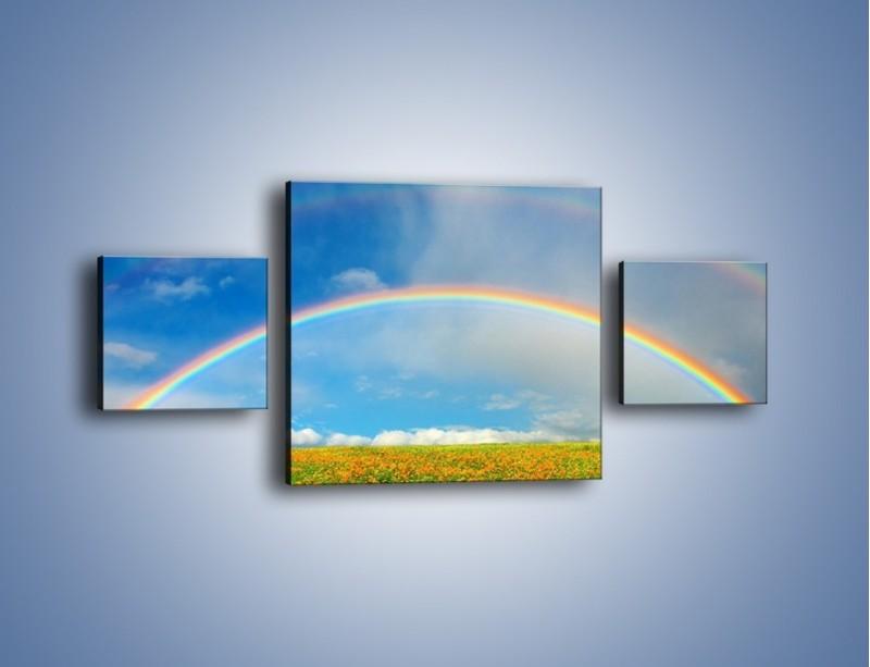 Obraz na płótnie – Urok kolorowej tęczy – trzyczęściowy KN406W4
