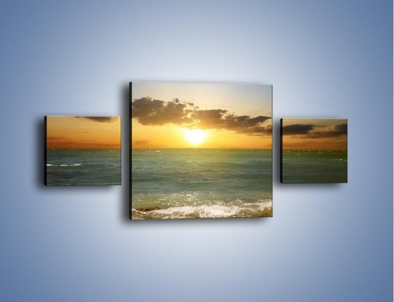 Obraz na płótnie – Kamienisty brzeg i jego spokój – trzyczęściowy KN482W4