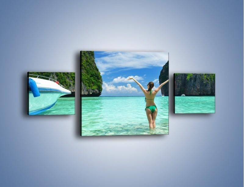 Obraz na płótnie – Udane wakacje w ciepłych krajach – trzyczęściowy KN530W4