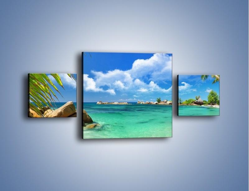 Obraz na płótnie – Tropikalna wyspa z katalogu – trzyczęściowy KN565W4