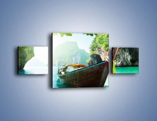 Obraz na płótnie – Wodny raj o poranku – trzyczęściowy KN573W4