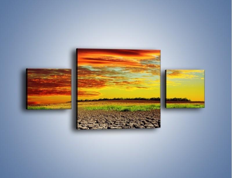 Obraz na płótnie – Spękane chmury i ziemia – trzyczęściowy KN602W4