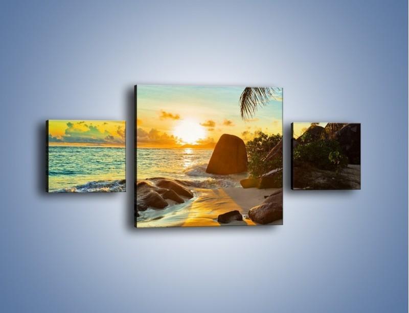 Obraz na płótnie – Spacer na bezludnej wyspie – trzyczęściowy KN671W4