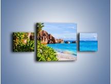 Obraz na płótnie – Brzeg morza jak z bajki – trzyczęściowy KN755W4
