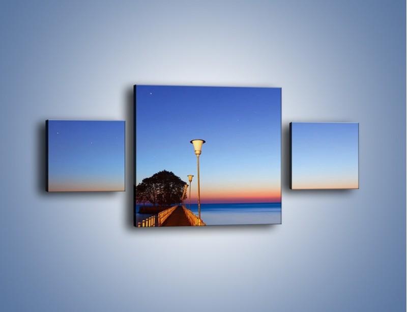Obraz na płótnie – Wieczorny spacer po tafli morza – trzyczęściowy KN759W4