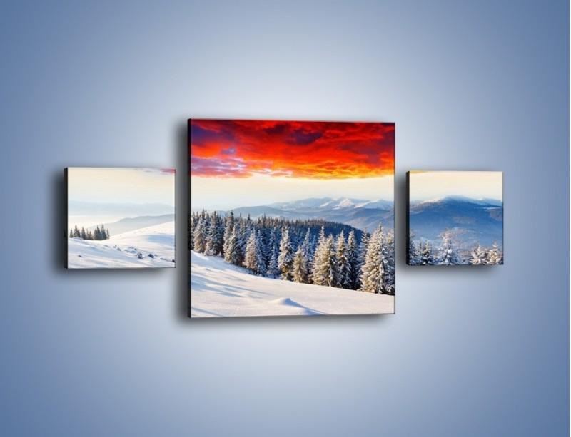 Obraz na płótnie – Cały urok gór zimą – trzyczęściowy KN805W4